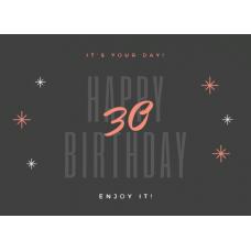 Birthday Card - Happy Birthday 30