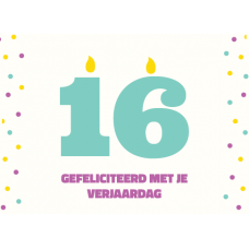 Birthday Card - Gefeliciteerd 16