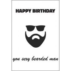 Birthday Card - Sexy Bearded Man