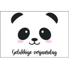 Birthday Card - Gelukkige Verjaardag Panda