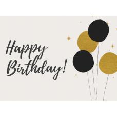 Birthday Card - Happy Birthday Balloons