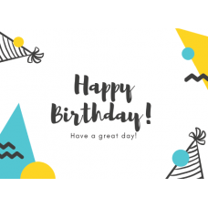 Birthday Card - Happy Birthday Hats