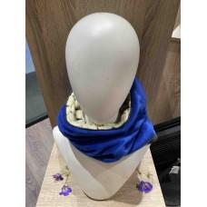 Blue/White Wool ''Kapsjaal''