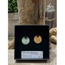 4 in 1 Collection - Gold Enamel/Green