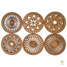 Mandala: Set of 6 coasters
