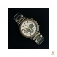 Luxury Black Walnut with Marble Watch
