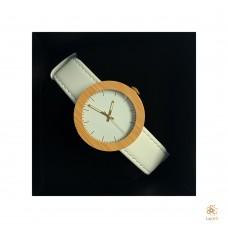 Luxury Bamboo Horloge White