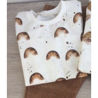 T-Shirt Long Sleeves - Brown Bow