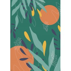 Art Print - Colorful Branches Green