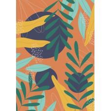 Art Print - Colorful Branches Orange