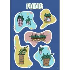Stickers Sheet - Plants
