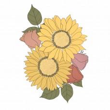 Stickers - Sunflowers