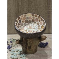 Coconut Bowl Brown Mother of Pearl
