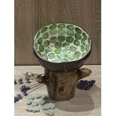 Coconut Bowl Mother of Sea Pearl Green