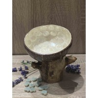 Coconut Bowl Mother of Sea Pearl White