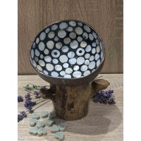 Coconut Bowl Blue Mother of Pearl