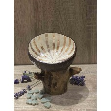 Coconut Bowl Brown with Mozaïc Star