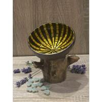 Coconut Bowl Yellow Mosaic Star