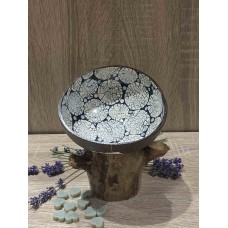 Coconut Bowl Blue with Eggshell